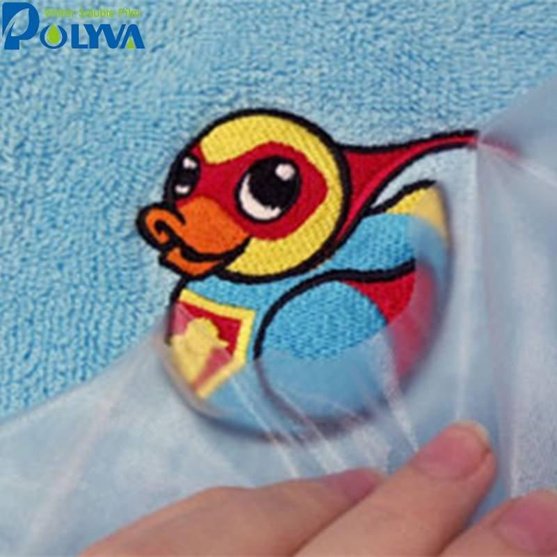 cold water soluble PVA film for Computer Embroidery