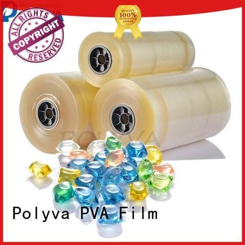 POLYVA Vinyl dissolvable plastic bags directly sale for makeup