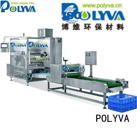 Custom nzc nzd water soluble film packaging POLYVA automatic