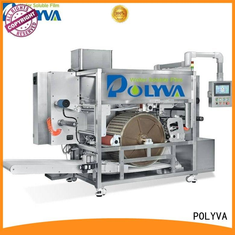 water soluble film packaging rotary drum-type for powder pods POLYVA