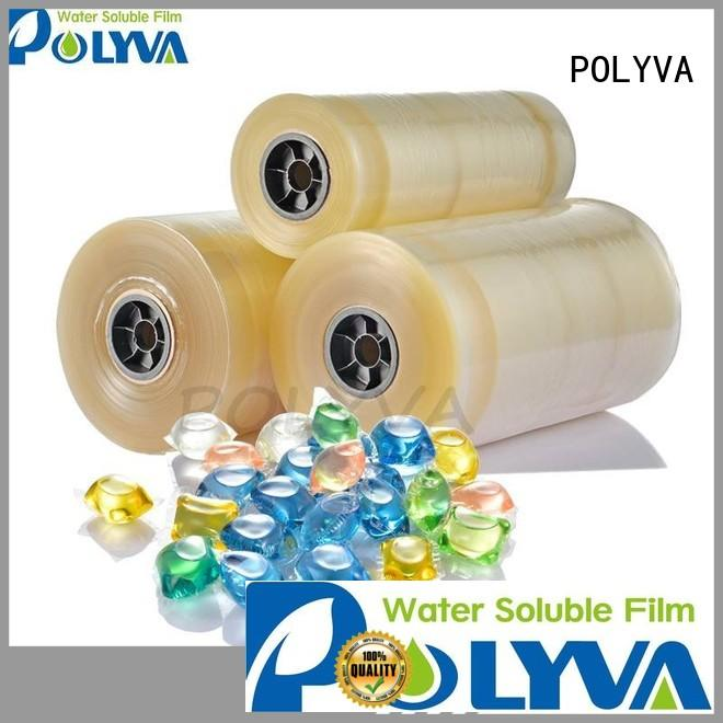 Custom pva cold water soluble film POLYVA packaging