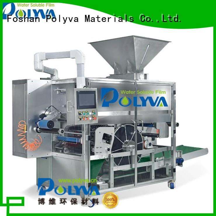 laundry pod machine pda POLYVA Brand water soluble film packaging
