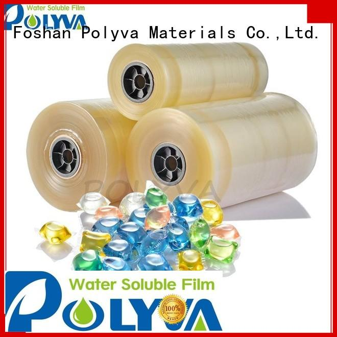 Custom soluble pods water soluble film POLYVA cold
