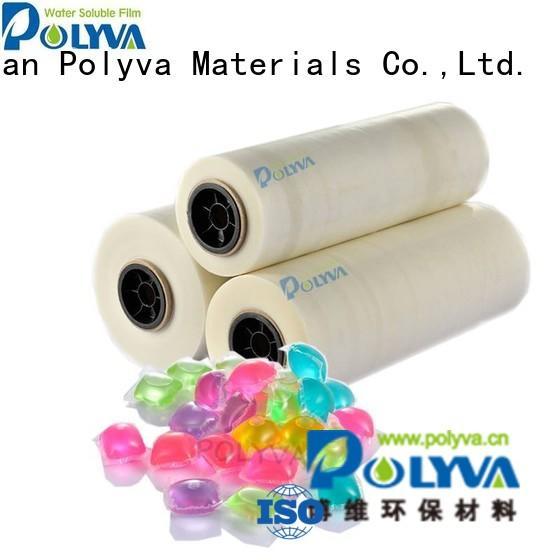 Custom pva laundry water soluble film POLYVA pods