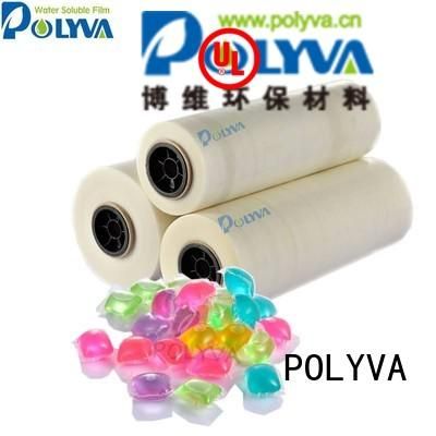 water soluble film suppliers cold pods packaging POLYVA Brand