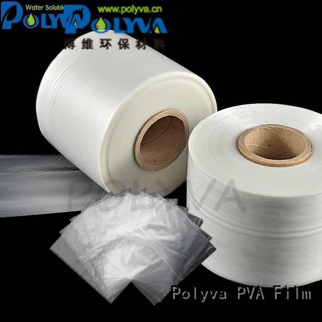 Custom environmentally dissolvable plastic friendly POLYVA