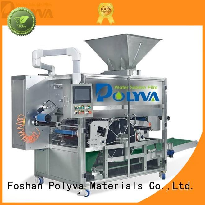 POLYVA high capacity water soluble film packaging for powder pods