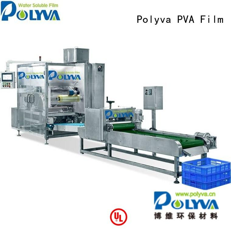 pods packaging machine pda POLYVA Brand water soluble film packaging supplier
