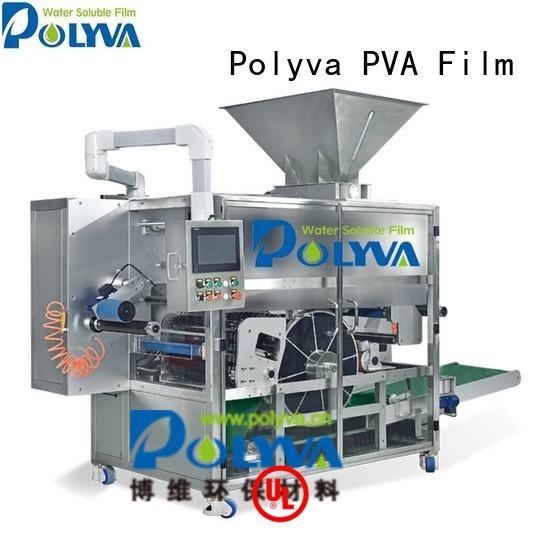 laundry pod machine powder speed pda POLYVA Brand water soluble film packaging