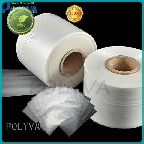 POLYVA real water soluble plastic bags factory for solid chemicals