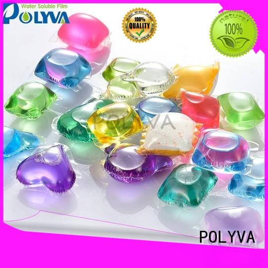 POLYVA laundry detergent water soluble film series for makeup