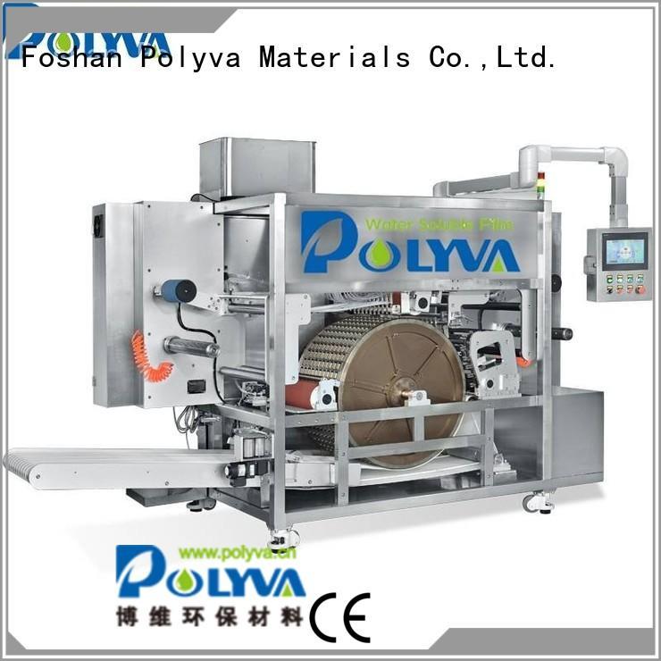 laundry pod machine liquid pda POLYVA Brand water soluble film packaging