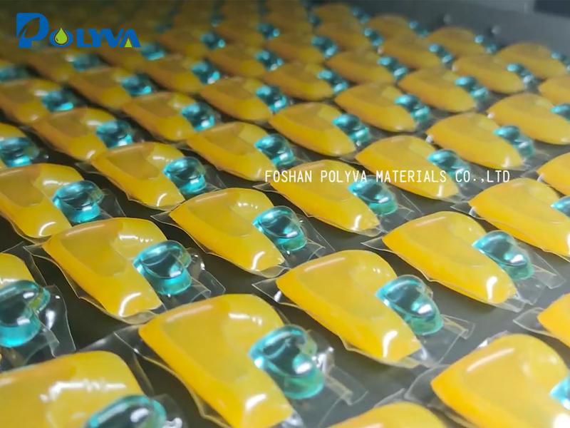 Водорастворимая пленочная упаковочная машина, HE PVA Водорастворимая пленка Форма Заполнение Уплотнительной машины