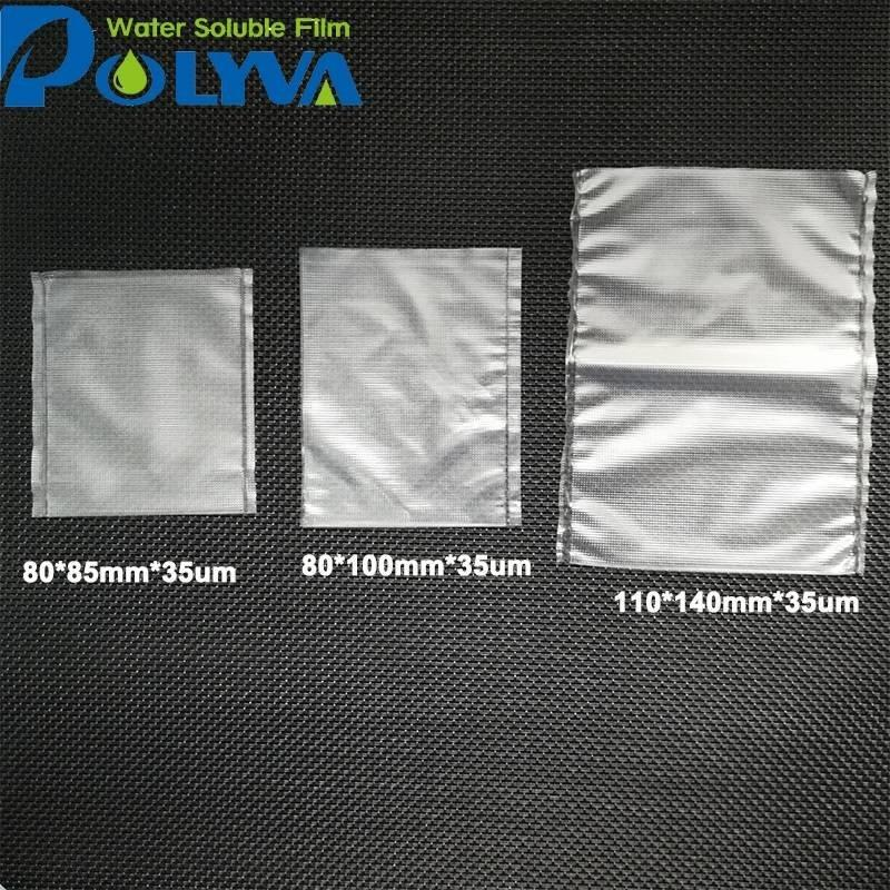 Polyvinyl alcohol water soluble bait bag packaging