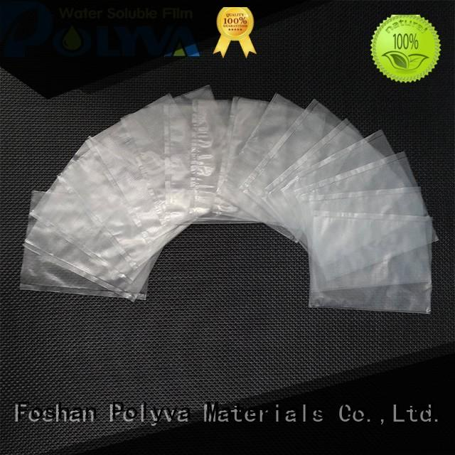 POLYVA environmentally friendly water soluble laundry bags factory price for solid chemicals