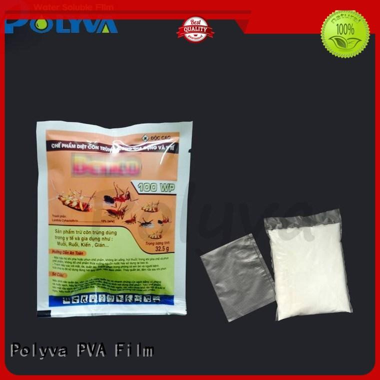 nontoxic dissolvable plastic manufacturer for solid chemicals POLYVA