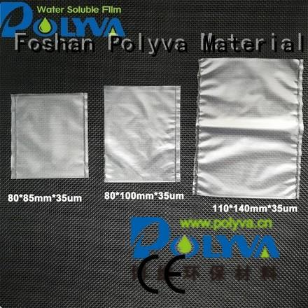 water soluble bags for ashes packaging preferred POLYVA Brand dissolvable plastic