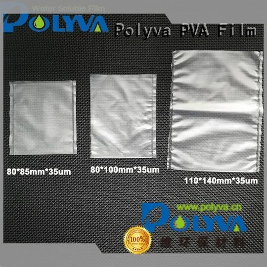 POLYVA high quality water soluble plastic bags factory for agrochemicals powder