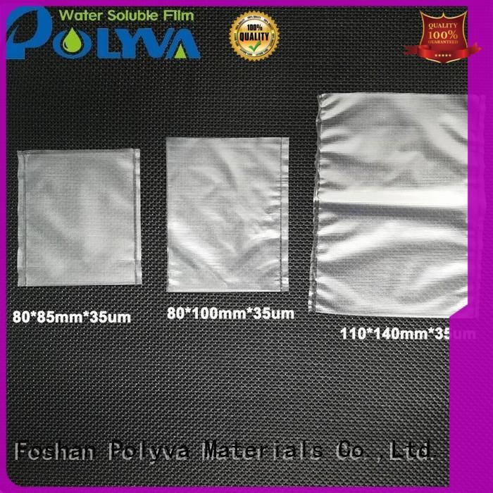 POLYVA nontoxic dissolvable bags for granules